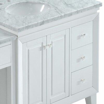 Pierceton 67 Transitional Single Wood Base Bathroom Vanity Set