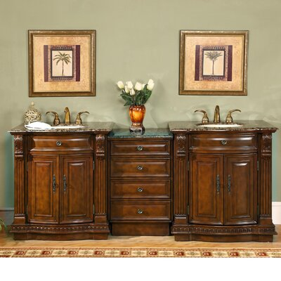 Double Bathroom Vanity on Empress 84  Double Sink Bathroom Vanity Cabinet Bathroom Vanity