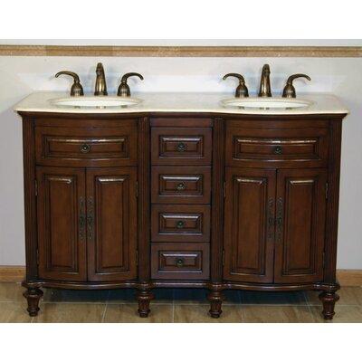 Pina 55 Double Bathroom Vanity Set