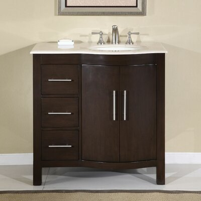 Kimberly 36 Single Bathroom Vanity Set Sink Location: Right Side, Top Finish: Cream