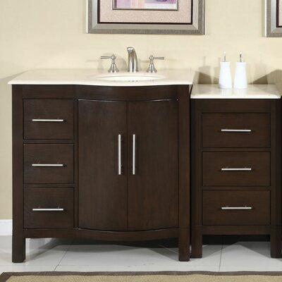 Bissette 54 Single Bathroom Vanity Set Sink Location: Sink on the Right