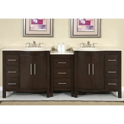 Bissette 89 Double Bathroom Vanity Set