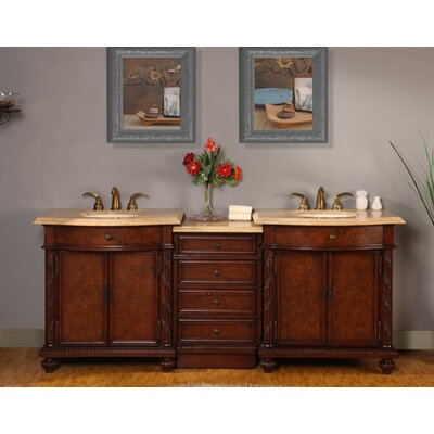 Brenneman 84 Double Bathroom Vanity Set