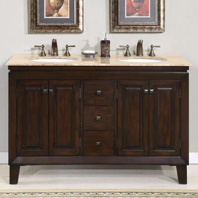 Jessica 55 Double Bathroom Vanity Set