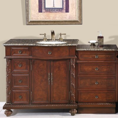 Brenneman 56 Single Bathroom Vanity Set Sink Location: Sink on the Right