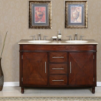 Adella 55 Double Bathroom Vanity Set