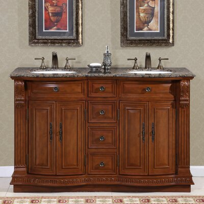 Monica 56 Double Bathroom Vanity Set