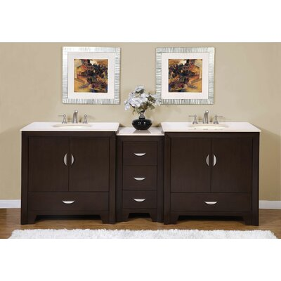 Ilene 89 Double Bathroom Vanity Set