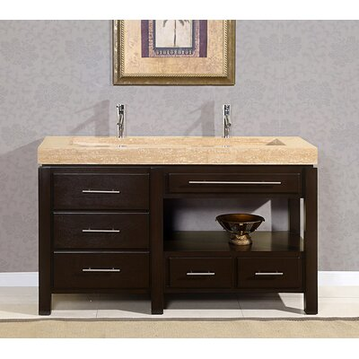 58 inch stone counter top bathroom vanity lavatory single sink cabinet