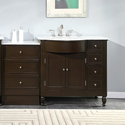 Kelston 58 Single Bathroom Vanity Set Sink Location: Left Side