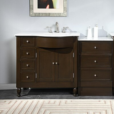 Kelston 58 Single Bathroom Vanity Set Sink Location: Right Side