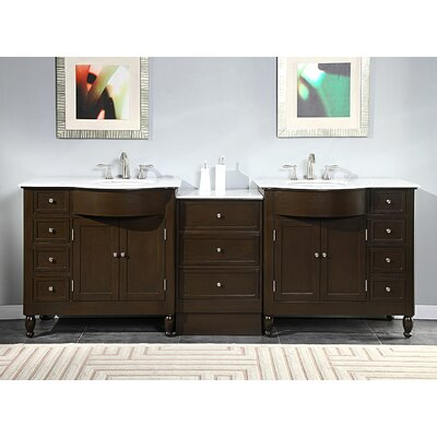 Kelston 95 Double Bathroom Vanity Set