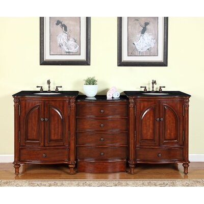 Leila 83 Double Bathroom Vanity Set