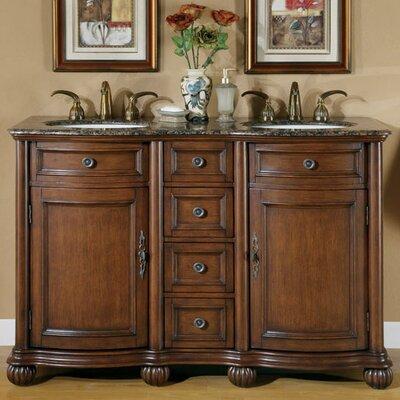 Hearne 52 Double Bathroom Vanity Set Top Finish: Baltic Brown
