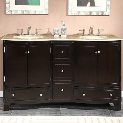 Naomi 60 Double Bathroom Vanity Set