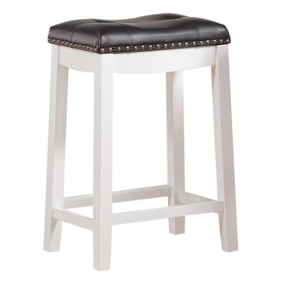Cambridge 30 inch Bar Stool Upholstery: Black