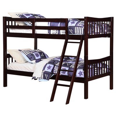 Fremont Twin over Twin Bunk Bed Bed Frame Color: Espresso