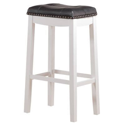 Cambridge 29 Bar Stool Upholstery: Black
