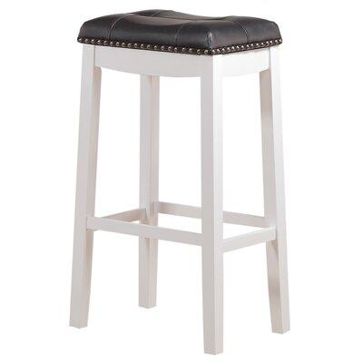 Cambridge 29 inch Bar Stool Upholstery: Black