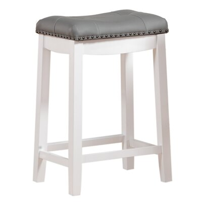 Cambridge 30 inch Bar Stool Upholstery: Gray