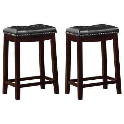 Cambridge 24 Bar Stool Finish-Upholstery: Espresso-Black