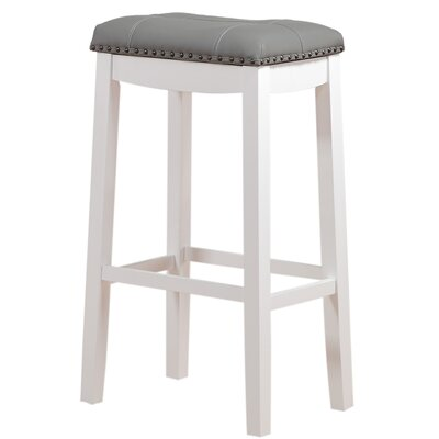 Cambridge 29 Bar Stool Upholstery: Gray