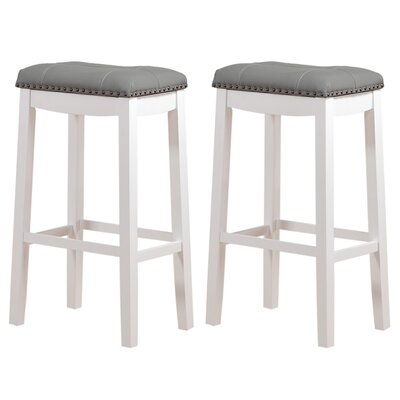 Cambridge 29 Bar Stool Upholstery: Faux Leather-Grey