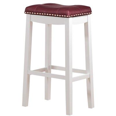 Cambridge 29 inch Bar Stool Upholstery: Dark Red
