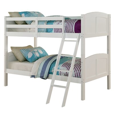 Creston Twin over Twin Bunk Bed Bed Frame Color: White
