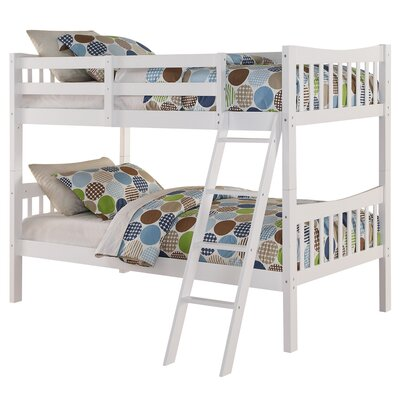 Fremont Twin Over Twin Bunk Bed Finish: White