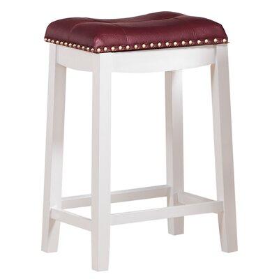 Cambridge 30 Bar Stool Upholstery: Dark Red