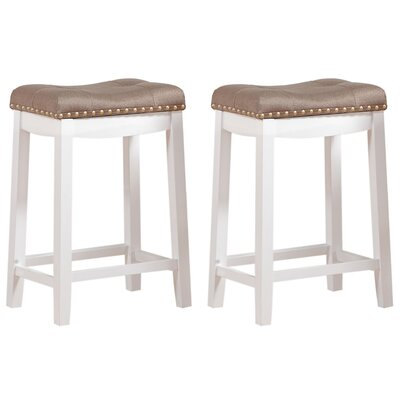Cambridge 24 Bar Stool Upholstery: Fabric- Tan