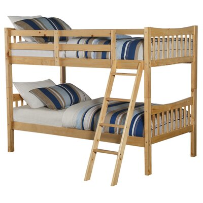 Fremont Twin over Twin Bunk Bed Bed Frame Color: Natural