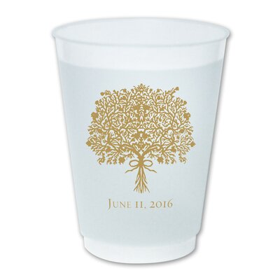 16 oz. Plastic Every Day Glass Color: Red WFC16PD002+RD