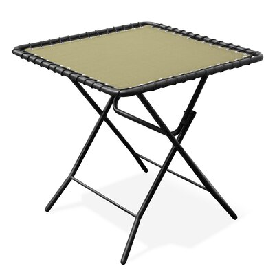 Folding Steel Side Table Color: Beige