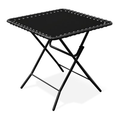 Folding Steel Side Table Color: Black