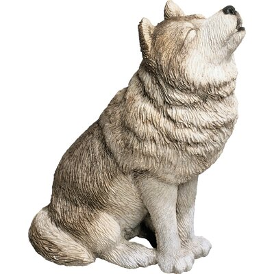 Mid Size Howling Wolf Sculpture MS502