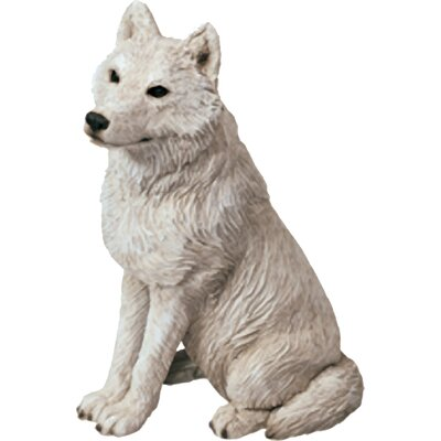 Mid Size Sculptures Artic Wolf Figurine MS505