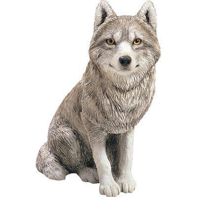 Original Size Sculptures Sitting Wolf Figurine OS303