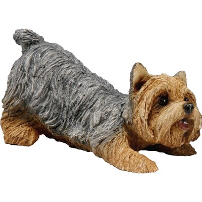 Sandicast Small Crouching Yorkie Sculpture