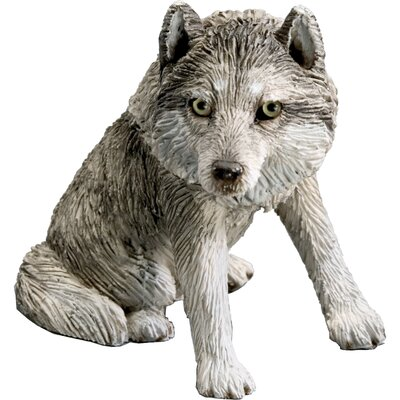 Small Size Sitting Wolf Sculpture SS45204