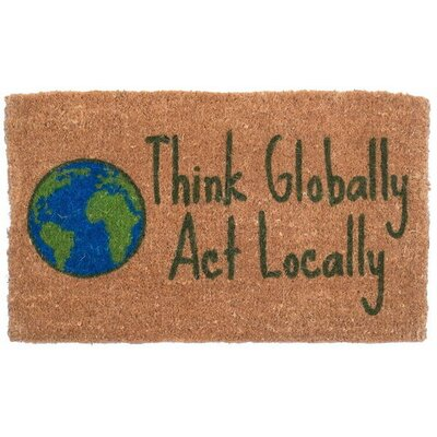 Think Globally Doormat