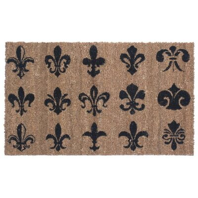 Fleur de Lis Wall Doormat