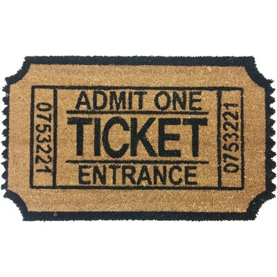Admit One Ticket Shaped Doormat