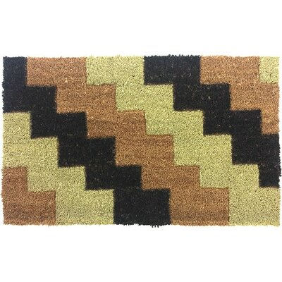 Diagonal Bricks Beveled Doormat