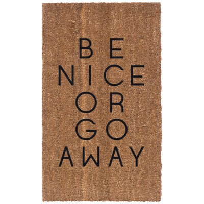 Be Nice or Go Away Doormat