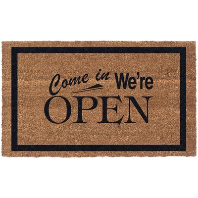 Open Sign Doormat