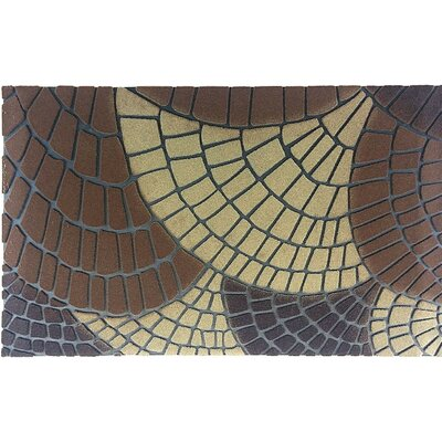Petals Doormat Color: Brown/Beige