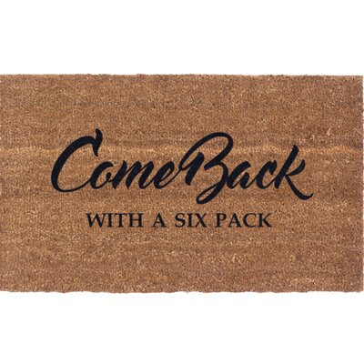 Six Pack Vinyl Back Coir Doormat