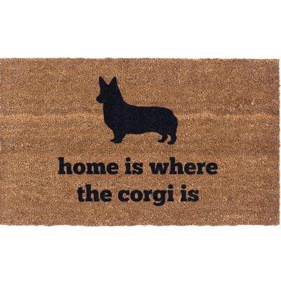 Corgi Life Vinyl Back Doormat